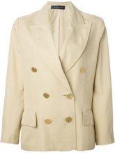 Jean Louis Scherrer Vintage - cropped blazer - women - Linen/Flax - 42 - NUDE & NEUTRALS