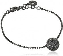 Pilgrim donna-Bracciale Classic cristallo nero taglio rotondo 1,2 cm - 60153_1,2, base metal, colore: nero, cod. 601533132