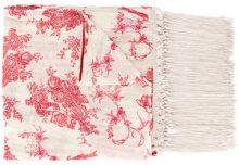 Forte Forte - Scairpa a fiori con frange - women - Cotton/Silk - OS - NUDE & NEUTRALS