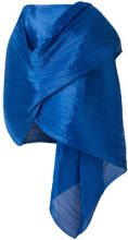 Pleats Please By Issey Miyake - Cappa drappeggiata - women - Polyester - OS - BLUE