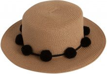 PIECES Straw Hat Women Black