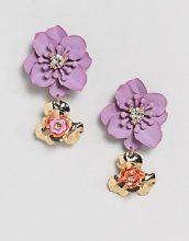 ASOS - Orecchini floreali pendenti - Oro