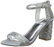 CarvelaGigi NP - Strap Alla Caviglia Donna, Argento (Silver (Silver)), 39