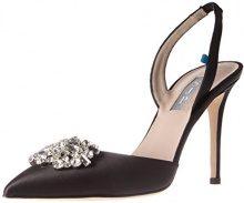 SJP by Sarah Jessica Parker Sana, Scarpe con Cinturino alla Caviglia Donna, Nero (Ebony Satin), 42 EU