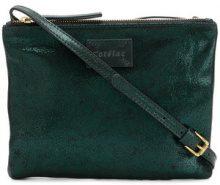 Cotélac - Borsa a tracolla con zip - women - Calf Leather/Cotton - OS - GREEN