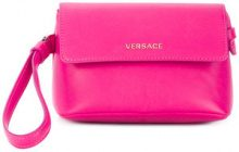 Versace - small wristlet clutch bag - women - Leather - OS - Rosa & viola