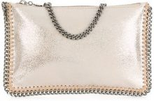 Stella McCartney - Falabella clutch bag - women - Polyester - One Size - NUDE & NEUTRALS