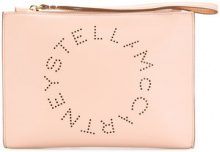 Stella McCartney - logo pouch - women - Artificial Leather - One Size - NUDE & NEUTRALS