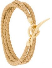 Shaun Leane - Bracciale multifilo 'Quill' - women - Leather/Gold Plated Sterling Silver - OS - NUDE & NEUTRALS