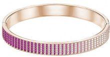 Swarovski Bracciale rigido Luxury, rosa, placcato oro rosa