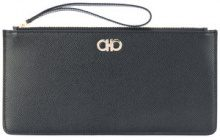 Salvatore Ferragamo - loop handle clutch - women - Calf Leather - One Size - Nero