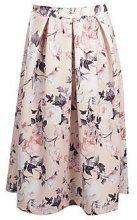 Melissa Pastel Floral Box Pleat Midi Skirt
