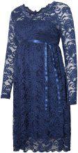 MAMA.LICIOUS Lace Maternity Dress Women Blue