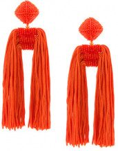 Sachin & Babi - Dupio earrings - women - Silk/Silicone - OS - YELLOW & ORANGE
