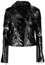 Phoebe Crinkle Finish Biker Jacket