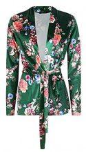 Eva Floral Printed Velvet Belted Blazer