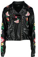 Tall bethia giacca premium ricamata con borchie in stile motociclista