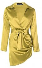 Jessica Satin Wrap Detail Dress