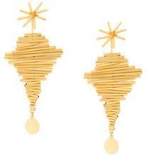 Paula Mendoza - Ego I earrings - women - Gold Plated Brass - OS - METALLIC