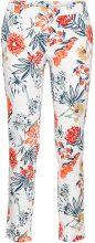 Pantalone elasticizzato 7/8 fantasia (Bianco) - BODYFLIRT