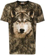 Etro - wolf print T-shirt - men - Cotton - XXL - BROWN