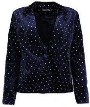 Jessica Boutique Glitter Spot Velvet Blazer