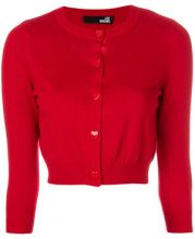 Love Moschino - Cardigan con bottoni a cuore - women - Cotton/Viscose/Silk - 42 - RED
