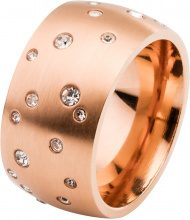 Anello in acciaio inossidabile e strass (Oro) - bpc bonprix collection