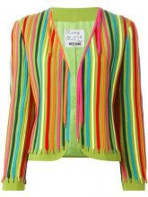Moschino Vintage - 'Shoe laces' jacket - women - Acetate/Rayon - 42 - MULTICOLOUR