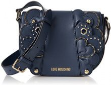 Love Moschino Borsa Vitello Smooth Blu - Borse Baguette Donna, (Blue), 6x17x22 cm (B x H T)