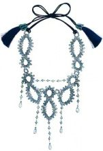 Night Market - Collana con cristalli - women - Cotone/glass/Polyamide - OS - Blu
