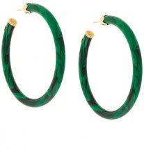 Gas Bijoux - Orecchini ad anello 'Caftan' - women - 24kt Gold Plate - OS - GREEN