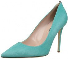 SJP by Sarah Jessica Parker Fawn, Scarpe con Tacco Donna, Turchese (Mintchip Teal Suede), 38 EU