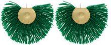 - Katerina Makriyianni - Orecchini a frange - women - argento/bronzo/lana - Taglia Unica - di colore verde