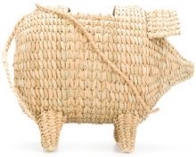Cult Gaia - The Babe weaved shoulder bag - women - Bamboo - One Size - NUDE & NEUTRALS