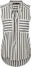 VERO MODA Striped Sleeveless Shirt Women White