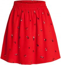PIECES Patterned Skirt Women Red