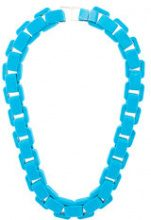 Wanda Nylon - flocked chain choker necklace - women - metal - OS - Blu