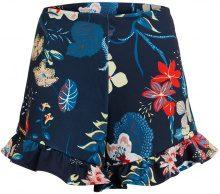 VILA Flower Patterned Shorts Women Blue