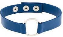 Manokhi - Marla choker - women - Leather - OS - BLUE