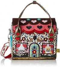 Irregular Choice Dog House - Borse a mano Donna, Multicolore (Red/multi), 13x20x22 cm (W x H L)