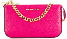 Michael Michael Kors - chain detail clutch - women - Leather - OS - PINK & PURPLE