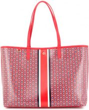 Tory Burch - chain-print tote - women - Leather/polyurethane - OS - RED