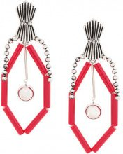 Toga Pulla - Orecchini grande con perline - women - Brass - OS - RED