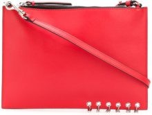 Versus - Clutch con borchie - women - Leather - OS - RED