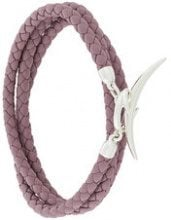Shaun Leane - Bracciale multifilo 'Quill' - women - Sterling Silver/Leather - OS - PINK & PURPLE