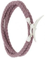 Shaun Leane - Bracciale multifilo 'Quill' - women - Leather/Sterling Silver - OS - PINK & PURPLE