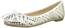 Buffalo Shoes C035C-4 P2137F A0026G PU, Ballerine Donna, Bianco (White 55), 38 EU