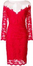Olvi´S - Vestito con motivo a fiori in pizzo - women - Polyamide/Spandex/Elastane/Viscose - 42 - RED
