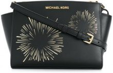 Michael Michael Kors - Selma large messenger bag - women - Calf Leather/Leather - One Size - BLACK